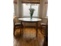 Extendable Dining Room Table + Chairs