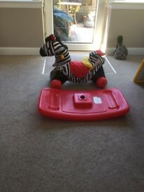 Childs zebra rocking house in good condition ,