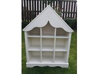 Gorgeous house shaped bookcase / Kids storage unit / dolls house £40