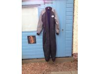 Under suit for a dry suit, Gates make. Extras, gloves, hood, ankle weights, 2 used dry suit zips.