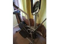 Elliptical Aerobic Exercise Bike Cross Trainer (2in1) Fitness Cardio Workout Gym