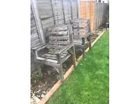 FREE- two solid wood chairs in need of TLC