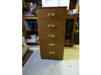 5 Draw Bedroom Storage Cabinet