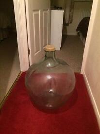 Old large vintage acid bottle - miniature garden/vase