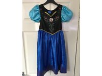 Official Girls Frozen Anna Dress Costume - Aged 5-6 Years