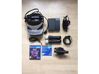 Playstation VR + Camera + Move Controllers + VR Worlds (PSVR)