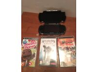 Sony PSP, Case & 3 Games