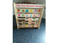 Wooden alphabet blocks. Great condition £5