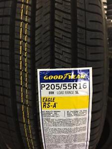 4 Brand New Goodyear RS-A 205/55R16 *** WallToWallTires.com ***