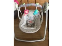Baby swing for sale with music and different speeds in natural colour