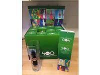 12 new unused boxed Grolsch pint glasses