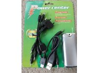 mobile phone emergency charger battery pack suits all phones with torch. Exc cond.Ideal car/handbag