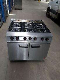 FALCON DOMINATOR 6 six burner LPG cooker commercial oven cooker fully working.