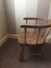 Antique baby seat in oak Have two of these that need a good home i
