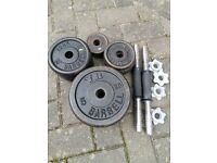40KG YORK CAST IRON DUMBBELL WEIGHT SET
