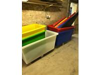 Storage crates with lids