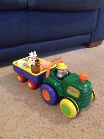 Tractor with animals toy