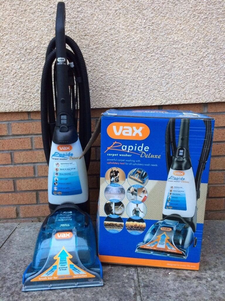Sold Vax Rapide Deluxe Carpet Washer V 026 Used Twice