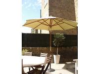 Garden parasol & stand