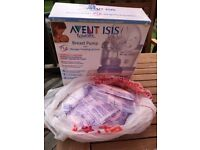 Avent Breast pump & accessories & spare Lansinoh (18) pads
