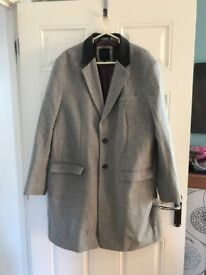Gray wool 3/4 length jasper conran coat (size 44)