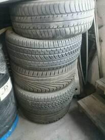 225/40/18 tyres 5-6mm