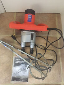 Vitrex Power Mixer Twin Paddle good condition hardly used. Typically used by plasterers and tilers.