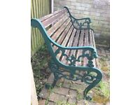 Cast Iron Outdoor Bench & Chair