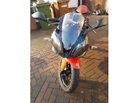 DERBI GPR 125 4T. VERY LOW GENUINE MILEAGE. VERY WELL LOOKED AFTER. FULL SERVICE HISTORY.
