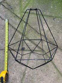 Industrial style cage lamp shade light