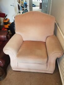Easy Chair in Pink Velour free to Collector