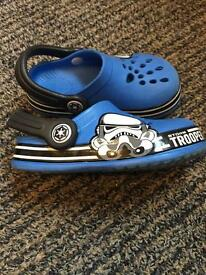 Storm trooper style crocs uk size 8 kids
