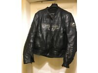 Furigan Leather Jacket - Motorbike - Black