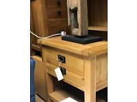 Beautiful designer oak lamp table