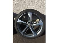 "AUDI 19"" ALLOY WHEELS AND TYRES £300"