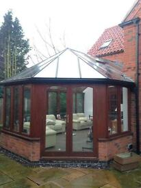 Massive wooden conservatory for sale