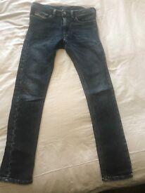 12yrs jeans. One pair Diesel and one pair Ralph Lauren