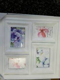 white brand new photo frame