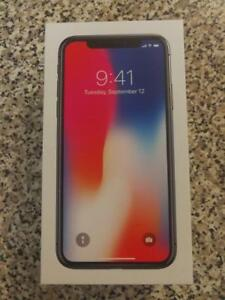 Black Iphone X 64 GB- Tempered glass + Case