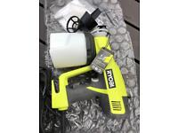 Ryobi electric paint sprayer spray gun painting fence shed garden furniture wall table bench