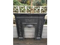 Beautiful and ornate period fireplace with mantel piece