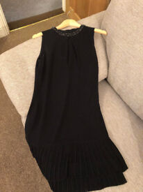 Little Black Dress with pleat and beading design from Oasis size 10