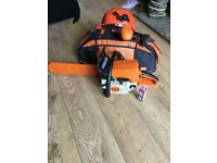 "Stihl ms 250 16"" petrol professional chainsaw with extras"