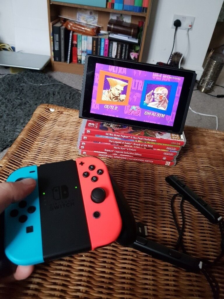 Nintendo Switch with 5 games plus extras