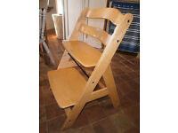 Trip Trap Alpha + from Hauck wooden grow along High Chair