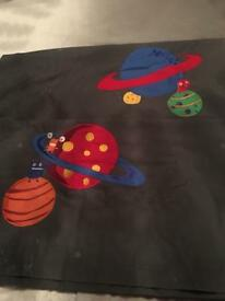 Next kids curtains space aliens planets