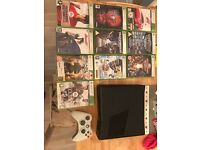 Xbox 360 slim in great condition plus 10 games