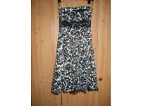 Prom/Party Dress (knee length) Black & White Warehouse Size 10