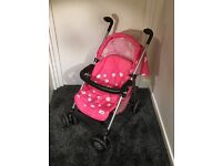 Children's dolls buggy (pink) barely used