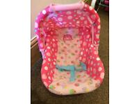 Dolls car seat early learning centre